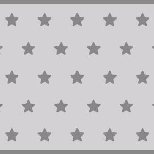 Alfombra vinilica estrellas grises